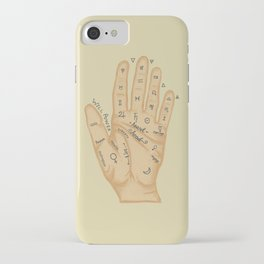 Hand Fortune Lines | Palm Reading iPhone Case