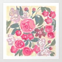 Cream Floral Art Print