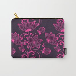 Bright colorful neon floral pattern Carry-All Pouch