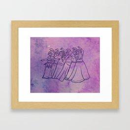 Belly Dance Troupe Framed Art Print