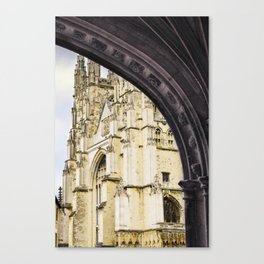 Canterbury Cathedral Arch Canvas Print
