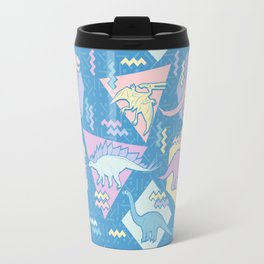 Nineties Dinosaurs Pattern  - Pastel version Travel Mug