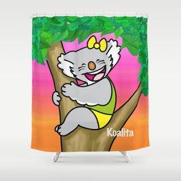 koalita on the tree Shower Curtain