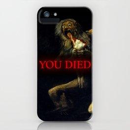 You Died Dark Soul iPhone Case