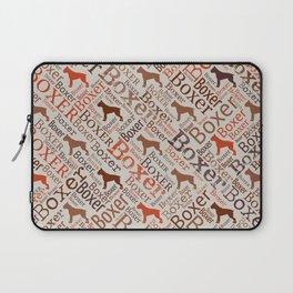Boxer dog Word Art Laptop Sleeve
