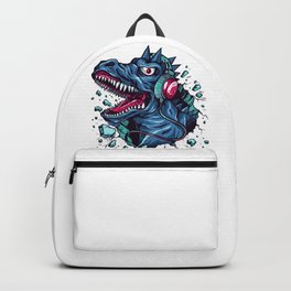 Dino with Headphones BLUE Orient Backpack