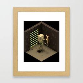 Skeletal Swordsman Framed Art Print