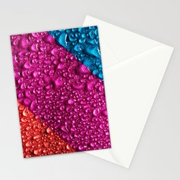 Abstract Colorful Wet Paper 01 Stationery Cards