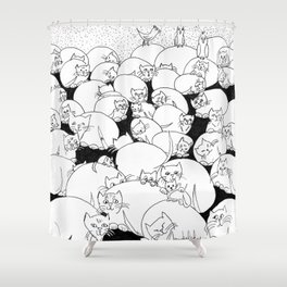 Boulder Cats Shower Curtain