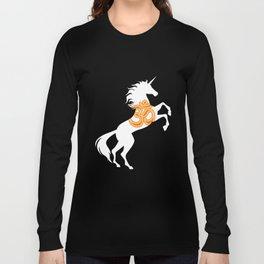 Unicorn Om Symbol Sacred Sound Magical Unicorn Long Sleeve T-shirt