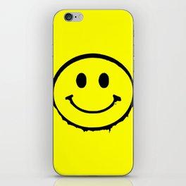 smiley face rave music logo iPhone Skin