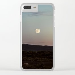 Moon Over Grand Teton Clear iPhone Case