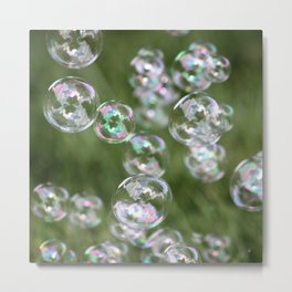 Floating Bubbles Outdoors Metal Print