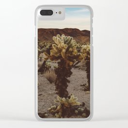 Cholla Cactus Garden XII Clear iPhone Case