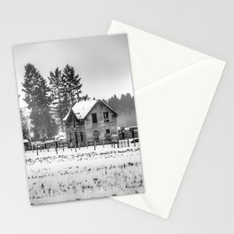 A Hazy Shade Of Winter  - Black And White Stationery Cards