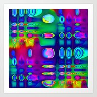 techno Art Prints featuring TECHNO-SPOTZ by David  Gough