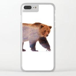 Wild animals : Bear Clear iPhone Case