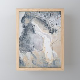 As Restless as the Sea: a minimal abstract painting by Alyssa Hamilton Art Framed Mini Art Print
