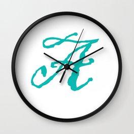 """""""A"""" // Initals // Monograms // Names Wall Clock"""