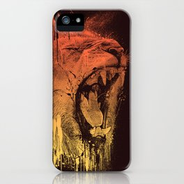 FIERCE LION iPhone Case