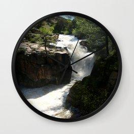 Awesome Shell Falls Wall Clock