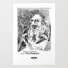 Penguin, a.k.a. Oswald Cobblepot Art Print