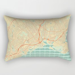 Bridgeport Map Retro Rectangular Pillow