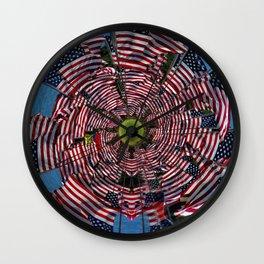 US Flags Wall Clock