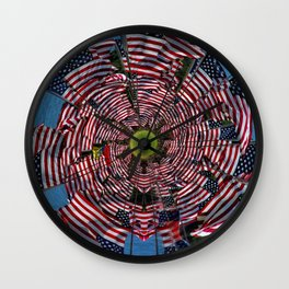 US Flags Wall Clock