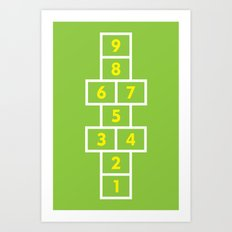 Hopscotch Green Art Print