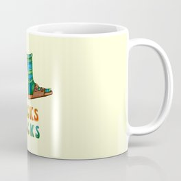Stocks And Socks with Groovy Lettering Coffee Mug