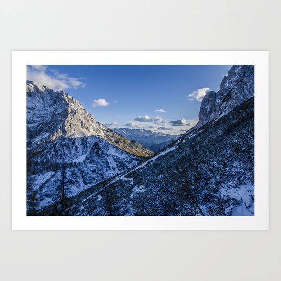 Cold Mountains Art Print