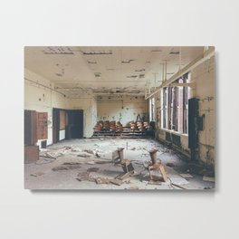 History is a Race Between Education and Catastrophe Metal Print