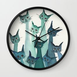 Knoxville Whimsical Cats Wall Clock