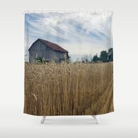 ohio Shower Curtains featuring Ohio barn by steve wall