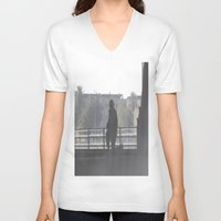 soldier V-neck T-shirts featuring Soldier by Damien Richard