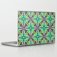 trex Laptop & iPad Skins featuring T. Rex Ice Pattern by chobopop