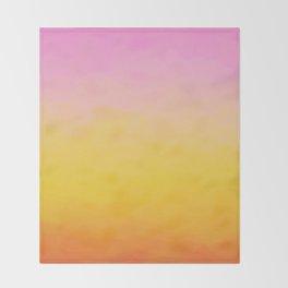 Painterly Gradient - Rich Sunset Variant Throw Blanket
