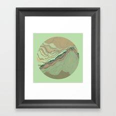 TOPOGRAPHY 001 Framed Art Print