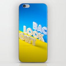 Don't Look Back iPhone Skin