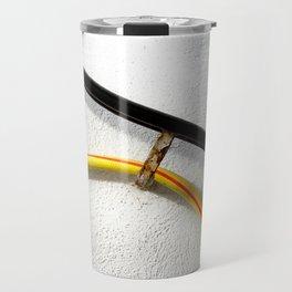 Water hose wall railing Travel Mug