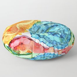 Agate Slices and Geodes Floor Pillow
