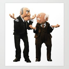 The Muppets - Statler and Waldorf Art Print