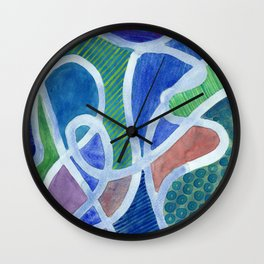 Curved Paths Wall Clock
