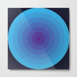 Bullseye in Blue Metal Print