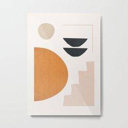 Abstract Minimal Shapes 36 Metal Print