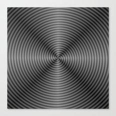 Spiral Quartered in Monochrome Canvas Print