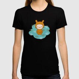 Yoga Lotus Bunny Illustration T-shirt