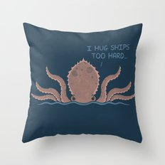 Monster Issues - Kraken Throw Pillow