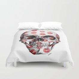 Kisses Skull Duvet Cover